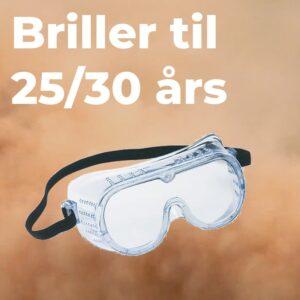 sikkerhedsbriller 25 og 30 år kanel/peber